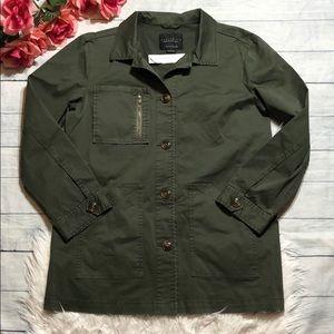 NWT Sanctuary Chest Pocket Anorak Olive Jacket